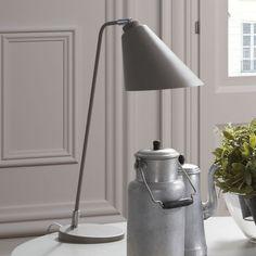 Tafellamp Tipir - grijs metaal 1 lichtbron