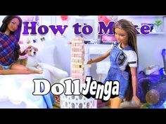 DIY - How to Make: Doll Jenga | Family Game Night Doll Craft EASY - YouTube