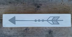 Wooden Distressed Arrow Sign by whatsyoursigndesigns on Etsy