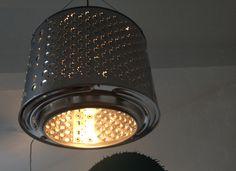 Droogtrommel als lamp in King Kong Coffee (Hasselt).