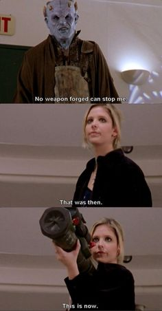 """Buffy """"That was then."""" - Buffy the Vampire Slayer Fangirl, Buffy Summers, Sarah Michelle Gellar, Joss Whedon, Me Tv, Buffy The Vampire Slayer, Our Lady, Best Shows Ever, Big Bang Theory"""