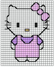 Hello kitty easy cross stitch pattern!