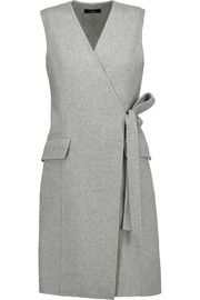 Shop on-sale Theory Livwilth wrap-effect wool and cashmere-blend dress. Browse other discount designer Dresses & more on The Most Fashionable Fashion Outlet, THE OUTNET. Top Fashion, Hijab Fashion, Fashion Dresses, Fashion Design, India Fashion, Womens Fashion, Dress Outfits, Casual Dresses, Dresses Dresses