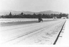 (ca. 1946)*^^^ - View looking north showing Devonshire Downs in Northridge. The race track was located at the corner of Zelzah & Devonshire Street (now the north campus of CSUN).