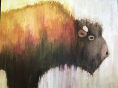Original Animal Drawing by Jeanne Goodman Drawing Drawing, Watercolor Drawing, Watercolor Pencils, Animal Drawings, Pencil Drawings, Southwestern Paintings, Bison, Colored Pencils, Buy Art