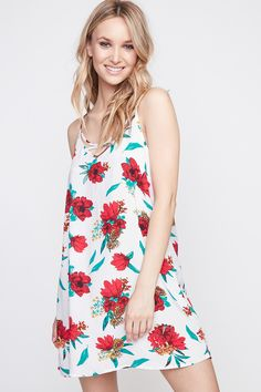 Floral Caged Swing Dress