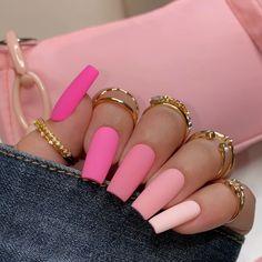 Pink Tip Nails, Pastel Pink Nails, Bling Acrylic Nails, Acrylic Nails Coffin Short, Baby Pink Nails Acrylic, Short Pink Nails, Colored Acrylic Nails, Cute Pink Nails, Light Pink Nails