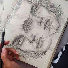 Art Drawings Sketches Simple, Cool Sketches, Pencil Art Drawings, Cool Drawings, Gcse Art Sketchbook, Portrait Art, Face Art, Aesthetic Art, Art Inspo
