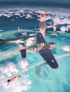 Douglass SBD-3 Dauntless & Mitsubishi A6M2/3 ~ BFD