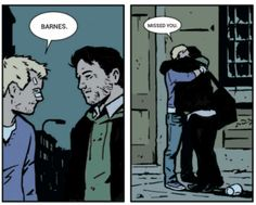 Bucky Barnes and Clint Barton taken from the hawkeye comics (it used to be Barney but photo editing is a beautiful thing)