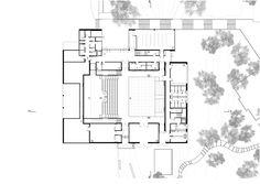 Cultural Center Alb'Oru,Basement Floor Plan