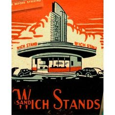 Wich Stand Drive In  Matchbook — Los Angeles