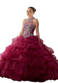 Mollybridal High Neck Quinceanera Prom Dresses Ball Gown ... https://www.amazon.com/dp/B01M65J3DV/ref=cm_sw_r_pi_dp_x_dxGWybB8R6K02