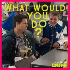 the duff images, image search, & inspiration to browse every day. The Duff Movie, Fat Friend, In Theaters Now, Good Movies, Awesome Movies, Instagram Posts, Tv, Television Set, Television