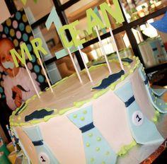 little man first birthday mustache party tie cake