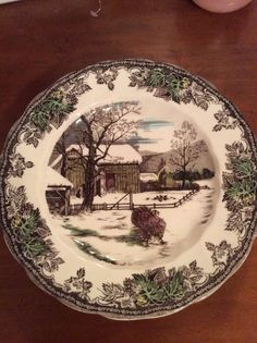 Details about Johnson Brothers FRIENDLY VILLAGE Salad Two Plates MINT & The-Friendly-Village-Johnson-Brothers-The-Ice-House-Flat-Cup ...