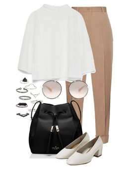 """""""Untitled #2306"""" by annielizjung ❤ liked on Polyvore featuring Topshop, Bottega Veneta, Zara, Kate Spade and Prada"""