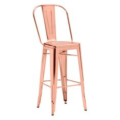 The Elio bar chair in rose gold; will accent any bar, restaurant or hotel in a glamThes and eye-catching way. Consumers across the globe will be clamoring to install this new gorgeous bar chair to outfit their homes, lofts or apartments. Rose Gold Bar Stools, Gold Stool, Patio Grande, Gold Furniture, Modern Furniture, Furniture Chairs, Furniture Ideas, Furniture Design, Leather Bar Stools