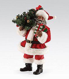 Possible Dreams African American Christmas Is Here Santa Figurine #Dillards
