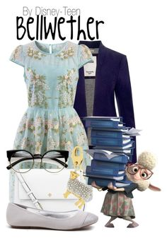 """""""Bellwether"""" by disney-teen ❤ liked on Polyvore featuring Tommy Hilfiger, Chicwish, Tory Burch, Kate Spade, disney, disneybound, disneyfashion and zootopia"""