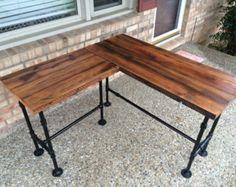 Reclaimed Wood Desk Table  Computer Desk Office Desk  Full | Etsy