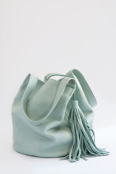 Bucket Tote in Mint-Very Fone South