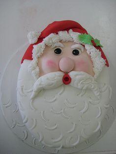 Father Christmas cake, Santa by brazenjane, via Flickr