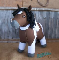 Canvas Colt Plush Horse sewing pattern by Rustic Horseshoe