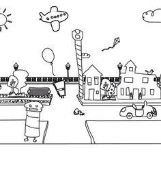 Coloreables de la Calle: Los dibujos de Juntines, listos para imprimir y colorear http://www.juntines.com/?idPlan=795