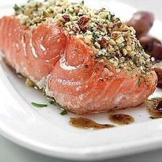 Salmone norvegese fresco con emulsione di  Aceto Tradizionale Balsamico Bonini Extravecchio #balsamico #salmone