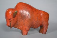 Amazing rare Mid Century large ceramic Bull by by 1stClassDesign