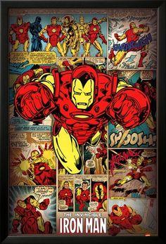 Marvel Comics-Iron Man-Retro Foto en AllPosters.com.mx