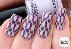 Video Tutorial: Argyle Pattern Nail Art