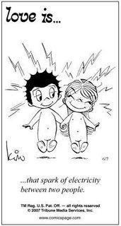 "The ole ""love is..."" cartoons"