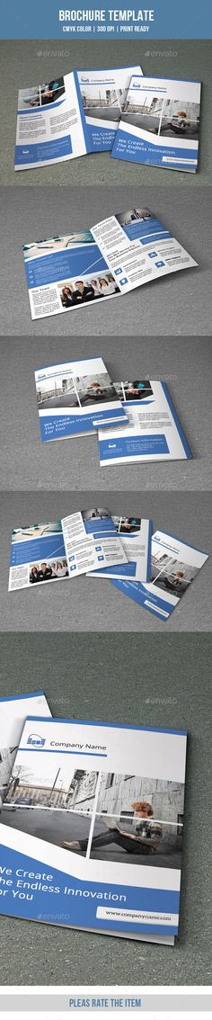 Bifold Business Brochure-V145  —  PSD Template • Download ➝…