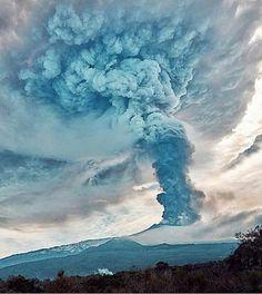 Torsten Eitze, Etna eruption