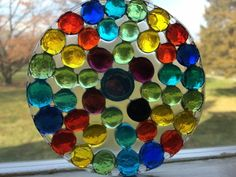 Easy Handmade DIY Suncatchers - I'm always on the lookout for EASY craft projects to do, especially ones that can double as gifts - Craft Projects For Adults, Arts And Crafts For Teens, Toddler Art Projects, Crafts For Seniors, Easy Craft Projects, Arts And Crafts Projects, Easy Diy Crafts, Creative Crafts, Diy Crafts To Sell