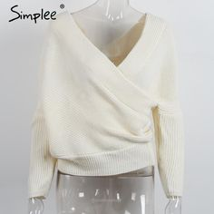 V Neck Batwing Long Sleeve Sweater-Sweaters-Look Love Lust, https://www.looklovelust.com/products/simplee-v-neck-batwing-long-sleeve-sweater