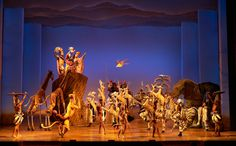 Lion King Broadway Musical. The legs are amazing! They extend the stage, reflecting the sky.