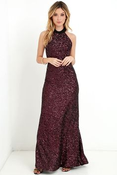 Head to toe Black and Red Sequin Maxi Dress for holiday parties and new years eve #christmas #nye