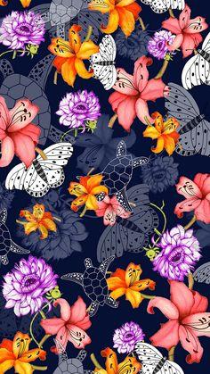 Flower Backgrounds, Cool Wallpaper, Doodles, Butterfly, Wall Art, Cool Stuff, Floral, Flowers, Dragonflies