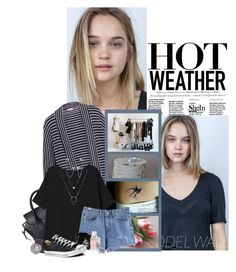 """Hot Weather"" by xshadesofblackx ❤ liked on Polyvore featuring H&M, Splendid, Miseno, Jimmy Choo, Converse, BERRICLE, Sheinside and shein"