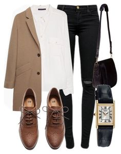 A fashion look from July 2015 featuring Violeta by Mango blouses, A. coats and J Brand jeans. Browse and shop related looks. Mode Outfits, Office Outfits, Casual Outfits, Fashion Outfits, Fashion Trends, Geek Chic Outfits, Suit Fashion, Fashion Weeks, Fashion Bloggers