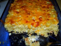 Baked Macaroni Pie With Cottage Cheese Recipe - Genius Kitchen Macaroni Pie, Baked Macaroni, Macaroni Cheese, Macaroni And Cheese Recipe With Cottage Cheese, Mac Cheese, Cheese Sauce, Cheddar Cheese, Cottage Cheese Eggs, Cottage Cheese Recipes