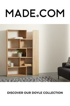 MADE Essentials Doyle Extending Shelving Unit, Oak Effect Oak Shelving Unit, Shelves, News Design, Home Furnishings, Your Design, Your Style, Bookcase, Essentials, Cushions