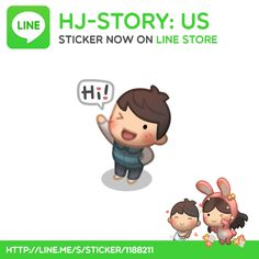 "The wait is over! Some fans keep asking from time to time if there will be HJS Stickers set for LINE Messenger and here it is now! Thanks so much for liking HJ-Story and we'll keep pumping out artwork, hope, and love  Get ""HJ-Story: Us"" now http://line.me/S/sticker/1188211"