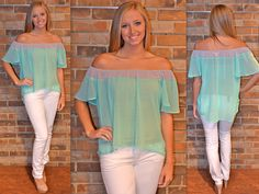 Cool as a Cucumber top on the SHOP tab!! Love mint!