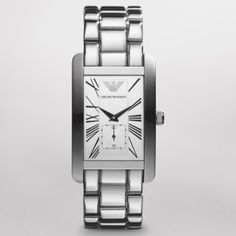 Armani AR0145 Expensive Suits, Expensive Watches, Armani Watches For Women, Watches For Men, Couple Watch, Classy Casual, Square Watch, Emporio Armani, Passion For Fashion