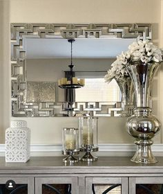 Entrance Ways, Entrance Decor, Entryway Decor, Mirror Decor Living Room, Mirrored Accent Table, Hallway Designs, Home Accents, Decor Styles, Sweet Home