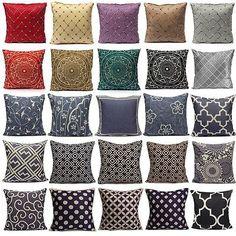 Housse Coussin Chinoiserie Géométrique Canapé Taie d'oreiller Cushion Cover